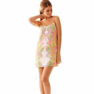 Lilly Pulitzer Dusk Double Trouble Silk Dress Sz S